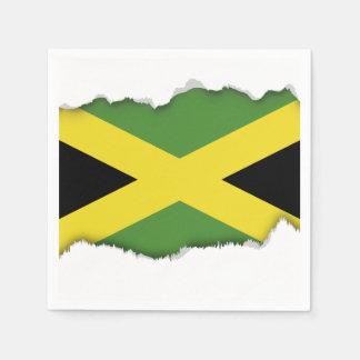 クラシックなジャマイカの旗 スタンダードカクテルナプキン