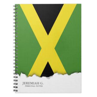 クラシックなジャマイカの旗 ノートブック