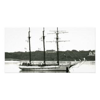 クラシックなスクーナー船 カード