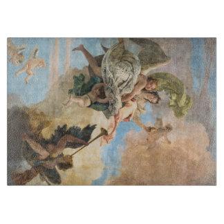 クラシックなスタイルで絵を描かれる天使 カッティングボード