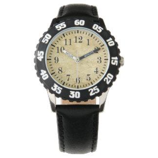 クラシックなスタイルの大理石によって印刷される顔の腕時計 腕時計