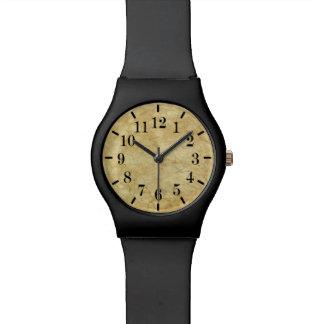 クラシックなスタイルの大理石のプリントの腕時計のミニマルなカチカチ 腕時計