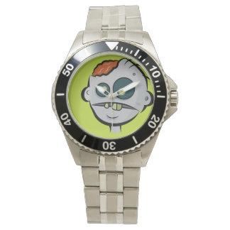 クラシックなステンレス鋼のゾンビの頭脳の腕時計 腕時計
