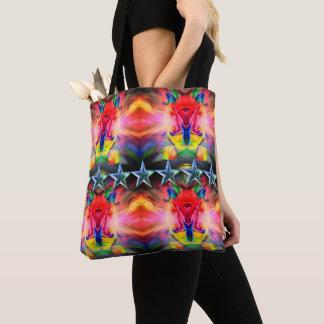 クラシックなバッグ-モダンで幸せなカラフルの抽象芸術のdesig トートバッグ