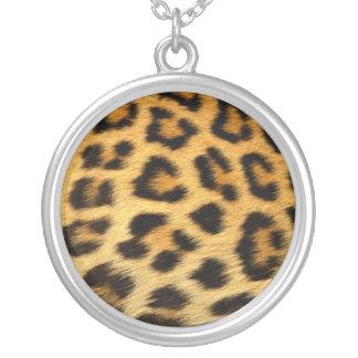 クラシックなヒョウのプリントの純銀製Nacklace シルバープレートネックレス