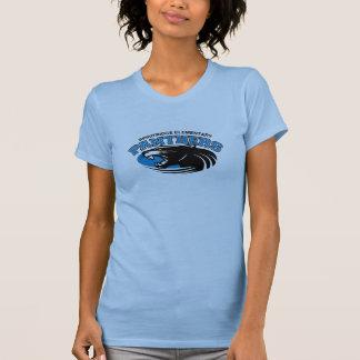 クラシックなヒョウレディースティー(淡いブルー) Tシャツ