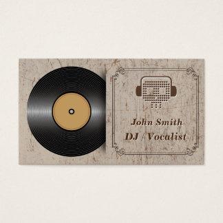 クラシックなビニールDJの音楽業界カード 名刺