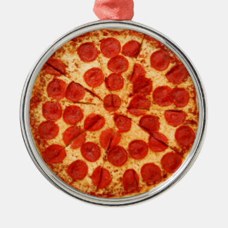 クラシックなピザ恋人 メタルオーナメント