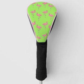 クラシックなピンクのフラミンゴの熱帯パターン ゴルフヘッドカバー
