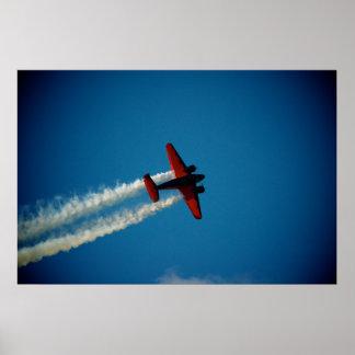 クラシックなブナ18の航空機 ポスター