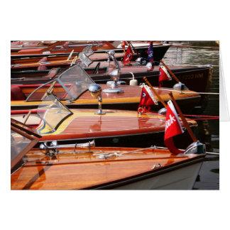 クラシックなボートの挨拶状 カード