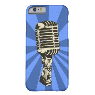 クラシックなマイクロフォン(青い) BARELY THERE iPhone 6 ケース