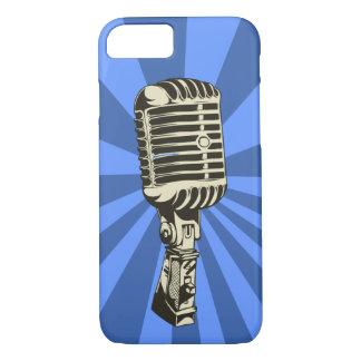 クラシックなマイクロフォン(青い) iPhone 8/7ケース