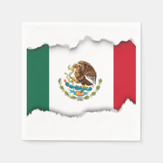 クラシックなメキシコ旗 スタンダードカクテルナプキン