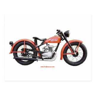 クラシックなモーターバイク125 HD_Texturized ポストカード