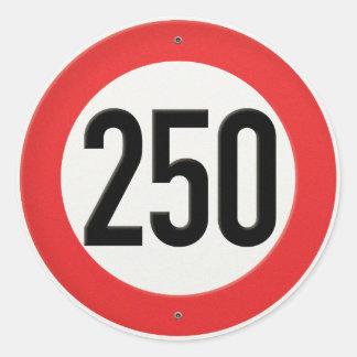 クラシックなヨーロッパの速度の印1時間あたりの250キロメートル ラウンドシール