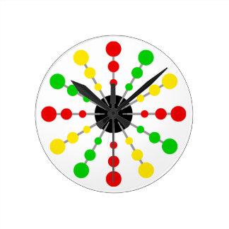 クラシックなラスタの時計 ラウンド壁時計