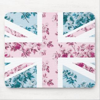 クラシックなヴィンテージのばら色の英国国旗イギリス(イギリス)の旗 マウスパッド