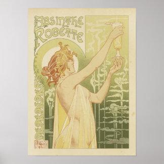 クラシックなヴィンテージのアブサンポスター ポスター