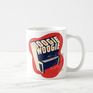 クラシックなヴィンテージのレトロのブギウギのWoogieジャズ コーヒーマグカップ