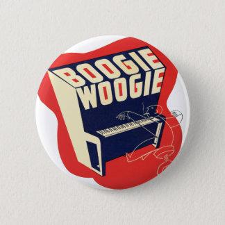 クラシックなヴィンテージのレトロのブギウギのWoogieジャズ 5.7cm 丸型バッジ