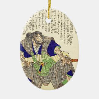 クラシックなヴィンテージの日本のな武士の戦士Ronin セラミックオーナメント