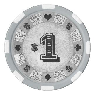 クラシックなヴィンテージの東洋の陰陽のドラゴンのトラの芸術 ポーカーチップ