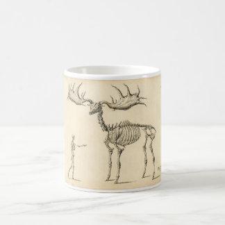 クラシックな動物学のエッチング-有史以前のオオシカ コーヒーマグカップ