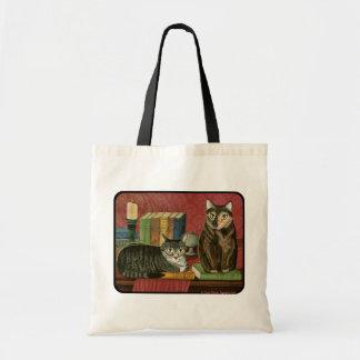 クラシックな文学的な猫Poe Dickensの火夫の芸術のバッグ トートバッグ