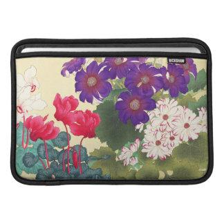 クラシックな日本のヴィンテージの水彩画によっては芸術が開花します MacBook スリーブ