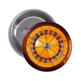 クラシックな木のルーレット盤ボタン 5.7CM 丸型バッジ