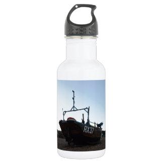 クラシックな木の漁船 ウォーターボトル