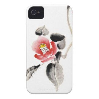 クラシックな東洋の中国のなsumi-eインク花のペンキ Case-Mate iPhone 4 ケース