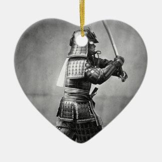 クラシックな武士の写真 セラミックオーナメント