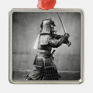 クラシックな武士の写真 メタルオーナメント