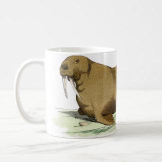 クラシックな海洋のエッチング-セイウチ コーヒーマグカップ