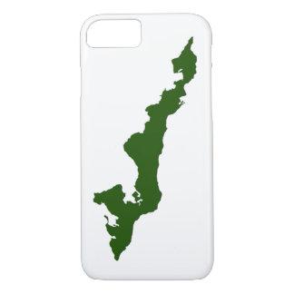クラシックな漁師の島のロゴのiPhoneの場合 iPhone 8/7ケース