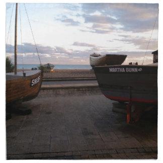 クラシックな漁船マーサGunn ナプキンクロス