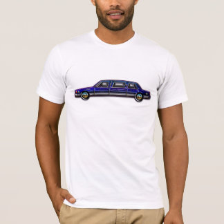 クラシックな濃紺のリムジン Tシャツ