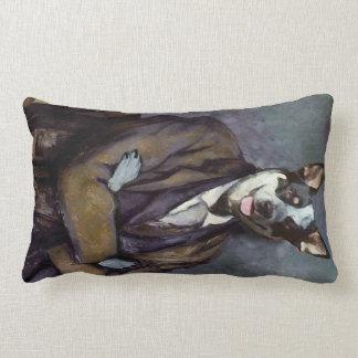 クラシックな犬の絵画の投球 ランバークッション