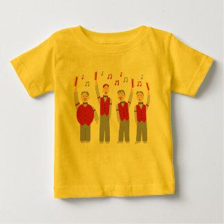 クラシックな理髪店の四つ組 ベビーTシャツ