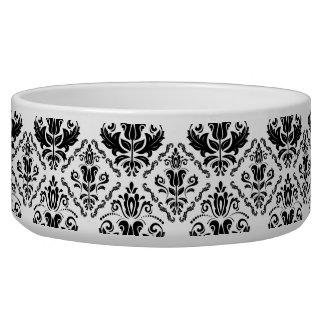 クラシックな白黒のダマスク織パターン-スタイリッシュな上品