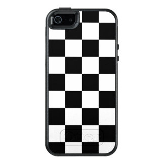 クラシックな白黒チェッカーボード オッターボックスiPhone SE/5/5s ケース