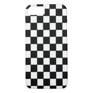 クラシックな白黒チェック模様- iPhone 7の場合 iPhone 8/7ケース