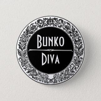 クラシックな白黒ヴィンテージBunco 缶バッジ