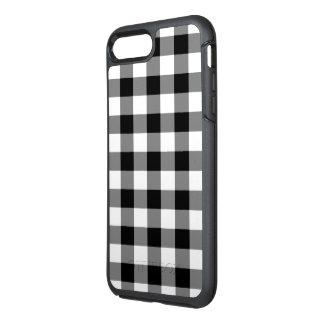 クラシックな白黒点検された格子縞 オッターボックスシンメトリーiPhone 8 PLUS/7 PLUSケース