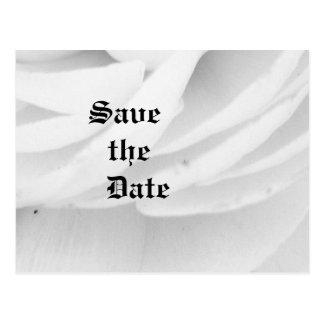 クラシックな白黒結婚式 ポストカード