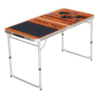 クラシックな石のオレンジゆがみのペダルのPongのテーブル! ビアポンテーブル