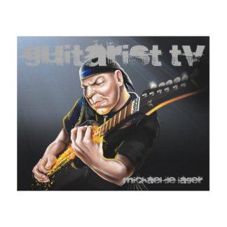 クラシックな石のギタリストTVのキャンバス キャンバスプリント