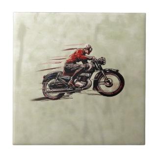 クラシックな競争のオートバイ タイル
